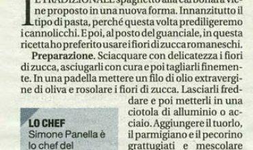 Simone Panella e la Carbonara ai fiori di zucca
