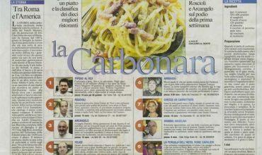 Le 10 migliori carbonare di Roma per Il Messaggero