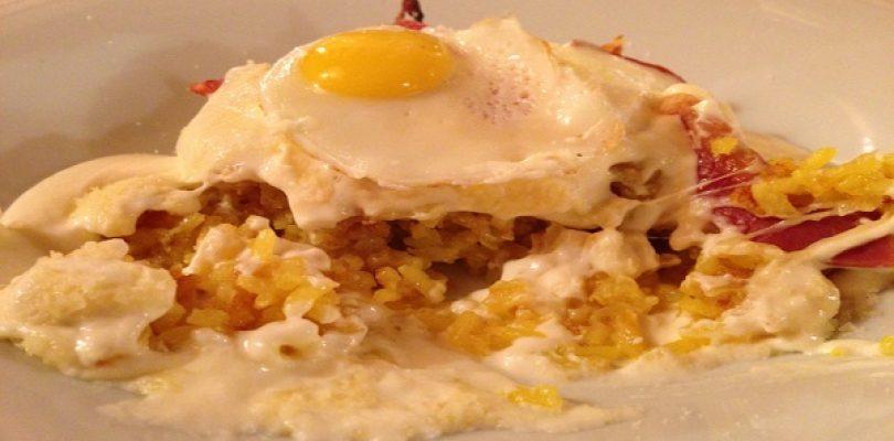 Osteria della Ripa, un risotto che sa di carbonara