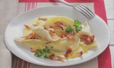 Simone Rugiati e i tortelli alla salsa di carbonara