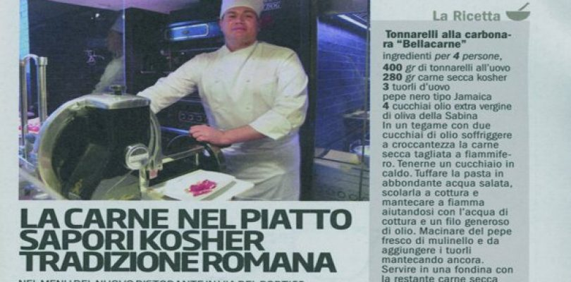 Bellacarne al Ghetto, la carbonara diventa kosher