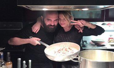 Emma e Giuliano, la carbonara (di pesce) delle star