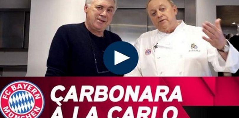 Ancelotti e la carbonara à la Carlo