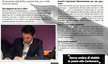Gigi Buffon e la carbonara, amore eterno
