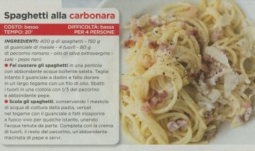 Paola Ferrari, spaghetti alla carbonara al top
