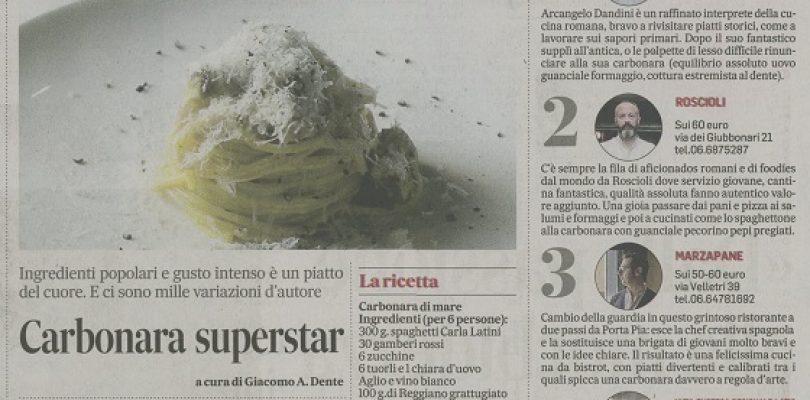 Carbonara Superstar, anche in versione di mare