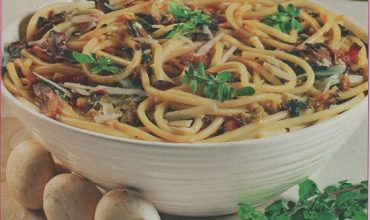 Di Più Cucina, bucatini & funghi champignon
