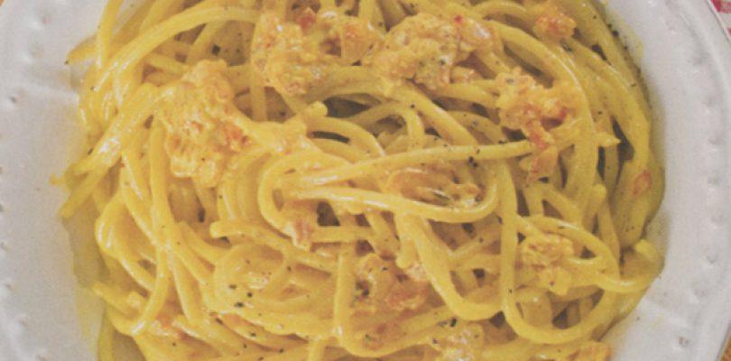 Più Cucina: carbonara finta (allo zafferano), ma buona