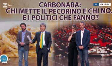 Carbonara, chi mette il pecorino e chi no. E i politici che fanno?