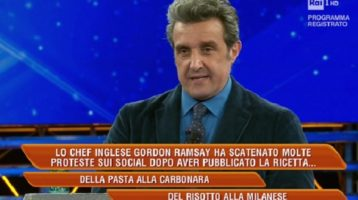 L'Eredità: la carbonara di Gordon Ramsay (e quella di Flavio Insinna)
