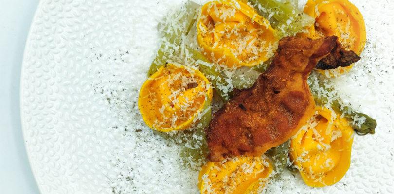 Tortelloni farciti di Carbonara dello chef Sadler