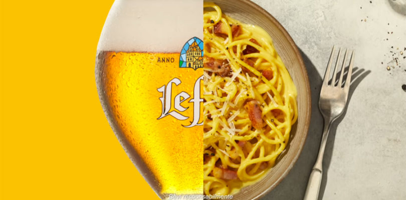 Birra e carbonara Leffe